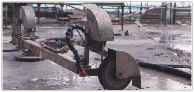 cutting steel under water
